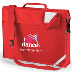 Personalised I LOVE DANCE School Book Bag